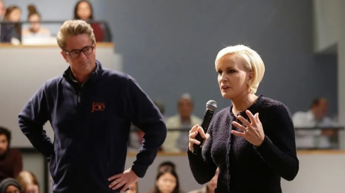 """Morning Joe"" co-host Mika Brzezinski's friends didn't want to admit they were American during a recent trip abroad."