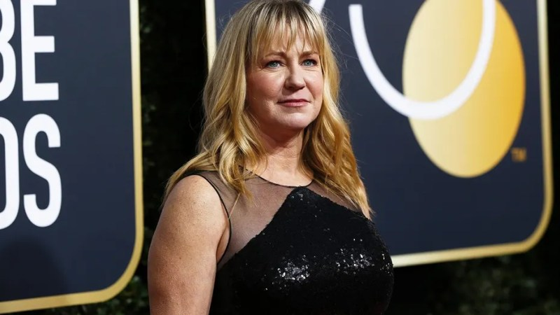 """Tonya Harding attended the Golden Globes to promote the film about her life, """"I, Tonya."""""""