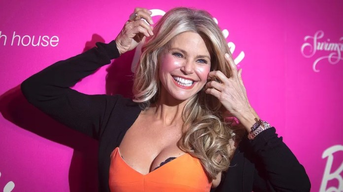 Model and actress Christie Brinkley arrives for the Barbie Celebrates 50th Anniversary of Sports Illustrated Swimsuit Issue party in New York, in New York February 17, 2014. REUTERS/Carlo Allegri (UNITED STATES - Tags: ENTERTAINMENT) - GM1EA2I14ZZ01