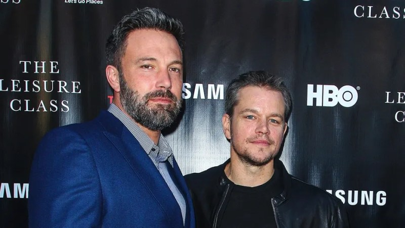 """Ben Affleck, left, and Matt Damon attend the """"Project Greenlight"""" premiere of """"The Leisure Class"""" in Los Angeles. Damon, Ben Affleck and Paul Feig are jumping on the inclusion rider bandwagon following Frances McDormand's Oscar acceptance speech."""