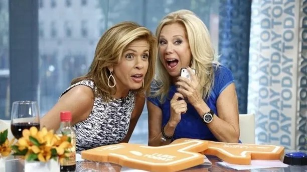 "Hoda Kotb and Kathie Lee Gifford appear on NBC News' ""Today."""