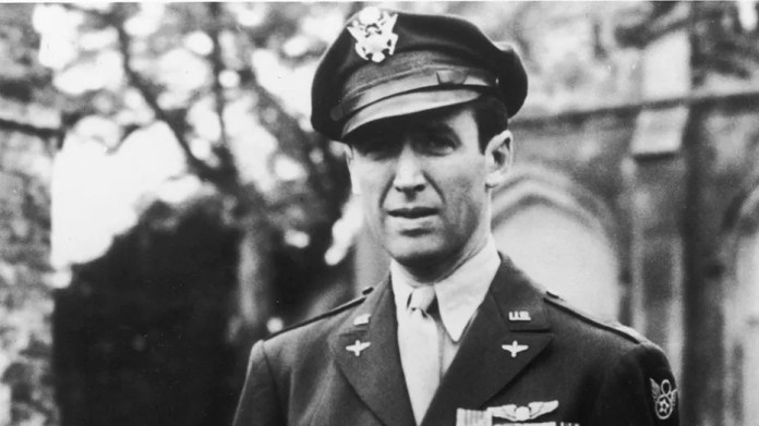 James Stewart in his U.S. Air Force Officer's uniform during World War II.