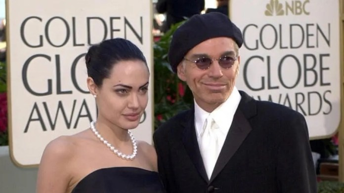 Angelina Jolie and Billy Bob Thornton were married for three years before splitting in 2003. Here, the former couple are pictured at the 2002 Golden Globes.