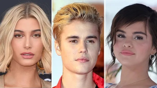 Hailey Baldwin, Justin Bieber and Selena Gomez