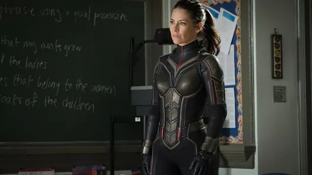 This image released by Marvel Studios shows Evangeline Lilly in a scene from