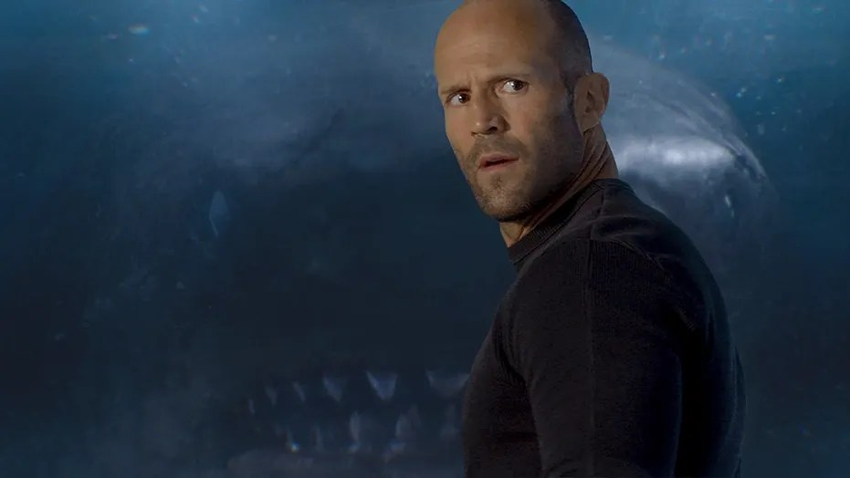 """This image released by Warner Bros. Entertainment shows Jason Statham in a scene from the film, """"The Meg."""" (Warner Bros. Entertainment via AP)"""