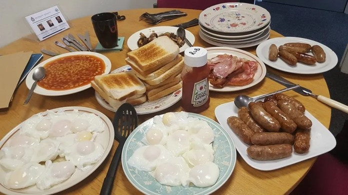 Police in North Wales received criticism from one vegan-friendly follower on Twitter over the team's choice of breakfast items.