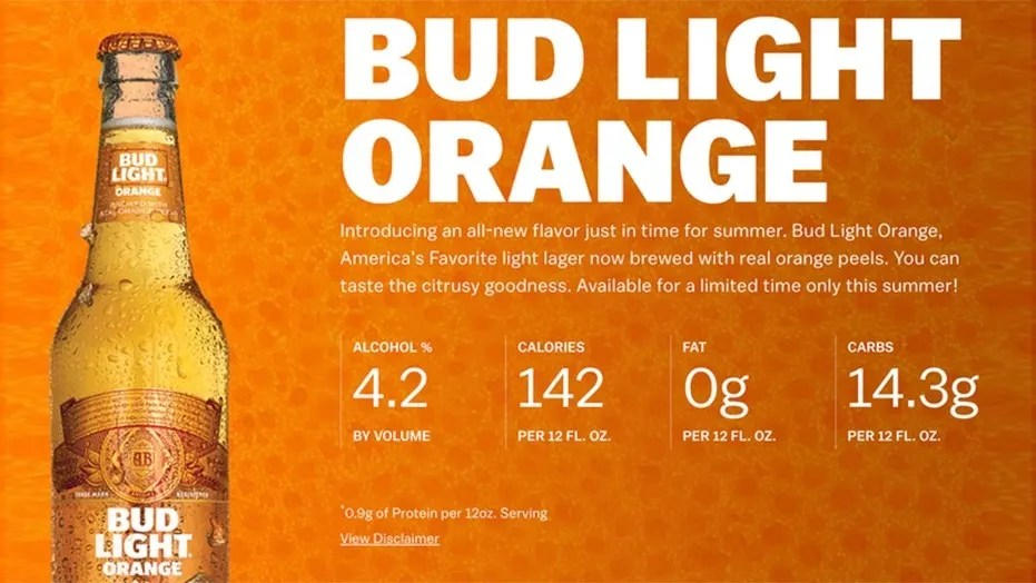 Anheuser Busch Debuts Summery New Bud Light Orange Fox News. Top Best 10  Low Carb Beers With Calories