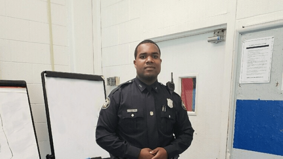 Officer James Cornelius lost just over 100 pounds while training to be a cop.