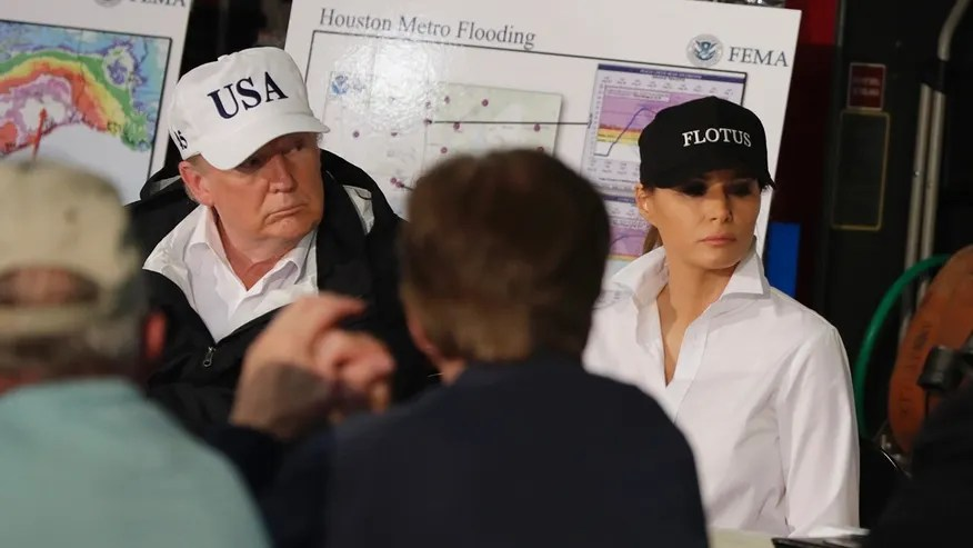 President Trump is accused of product placement on his trip to Texas.