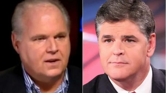 Limbaugh, (l.), and Hannity, (r.), say they don't want Hillary Clinton dead, they just back Trump for president.