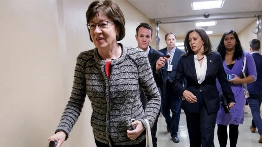 FILE:  Sen. Susan Collins said on Wednesday she's open to using a subpoena to investigate Trump's tax returns for potential connections to Russia.