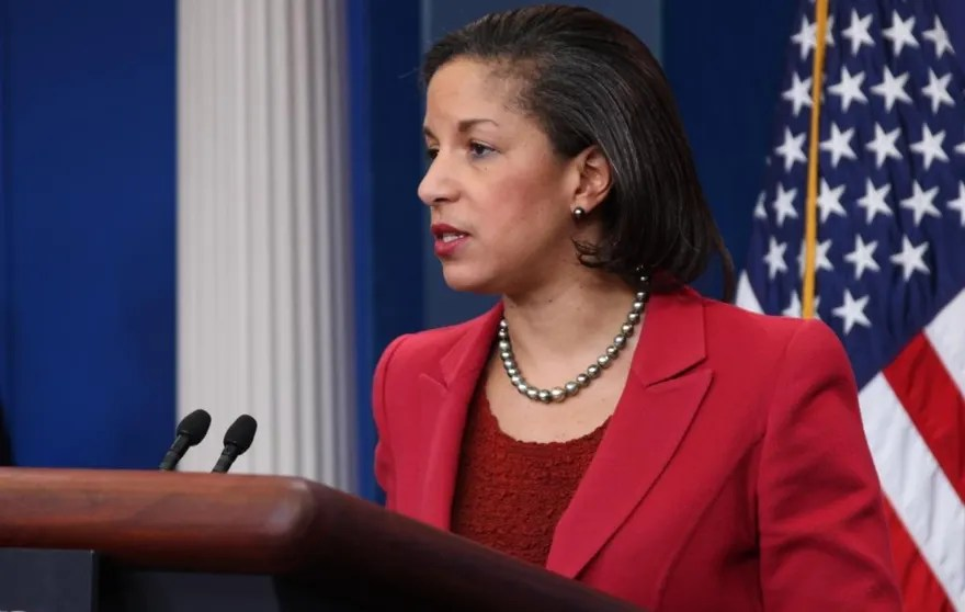 U.S. Ambassador to the United Nations Susan Rice addresses Libya violence at the White House Monday. (Fox News Photo)
