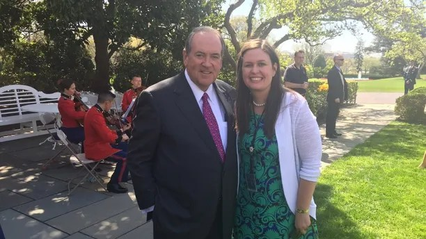 Image result for photos of mike huckabee and sarah huckabee