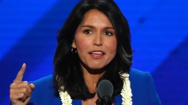 U.S. Representative Tulsi Gabbard (D-HI) delivers a nomination speech for Senator Bernie Sanders on the second day at the Democratic National Convention in Philadelphia, Pennsylvania, U.S. July 26, 2016. REUTERS/Mike Segar - RTSJSDY