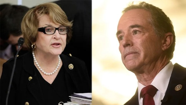 """Rep. Chris Collins, R-N.Y., called Rep. Louise Slaughter, D-N.Y., """"a despicable human being"""" Thursday."""
