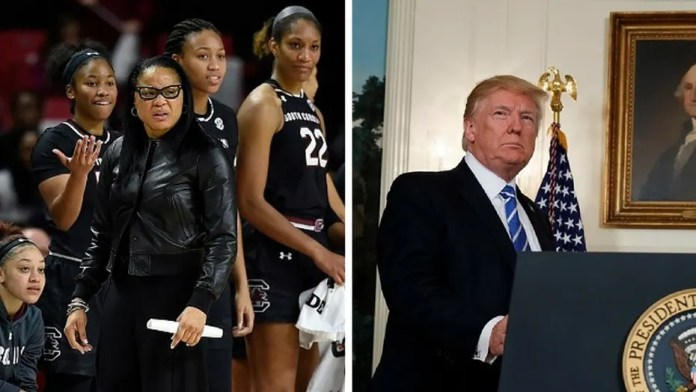 The South Carolina women's basketball team has declined President Trump's invite to the White House. Third Party Capture