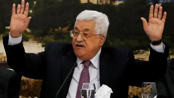 Palestinian President Mahmoud Abbas speaks during the meeting of the Palestinian Central Council in the West Bank city of Ramallah January 14, 2018. REUTERS/Mohamad Torokman - RC1BAD9EFDF0