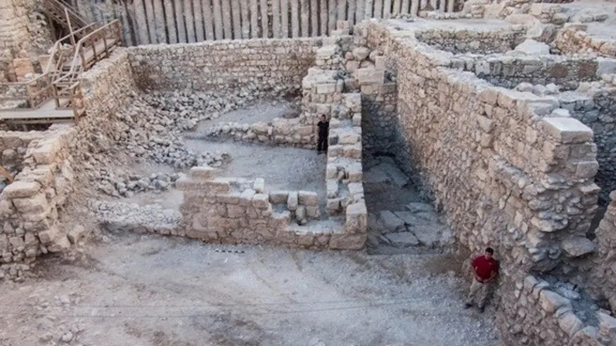 Archaeologists think construction on this ancient building started in the early second century B.C. and continued into the Hasmonean period.