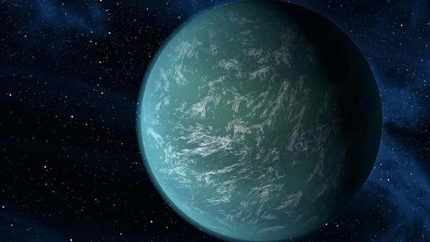 An artist's rendition of an exoplanet.