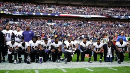 players kneeling AP