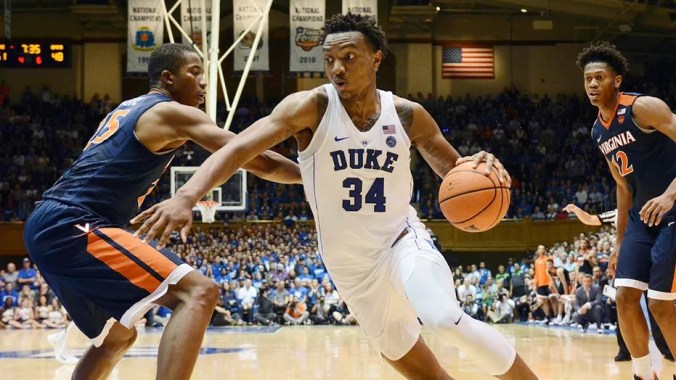 The mother of former Duke star Wendell Carter, pictured, likened the NCAA to slavery.