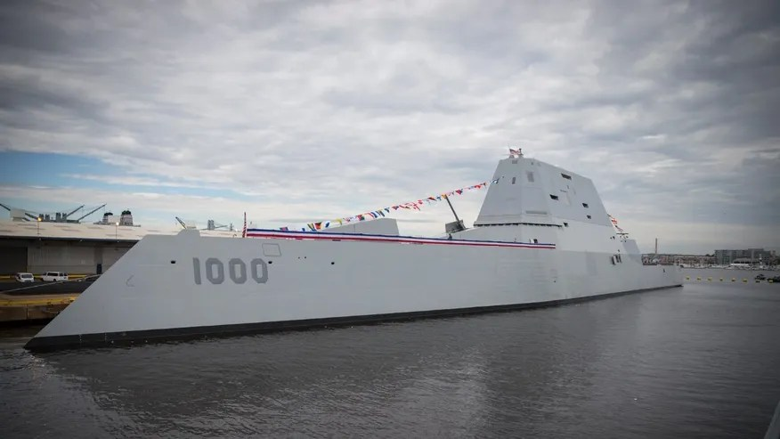 Image result for US Navy commissions its most advanced warship, USS Zumwalt
