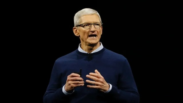 File photo: Tim Cook, CEO, speaks during Apple's annual world wide developer conference (WWDC) in San Jose, California, U.S. June 5, 2017. (REUTERS/Stephen Lam)