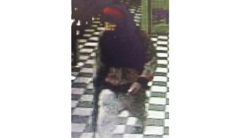 Surveillance camera photo shows man who tried to rob a Waffle House in Fayetteville on April 2, 2016. (Fayetteville Police Department)