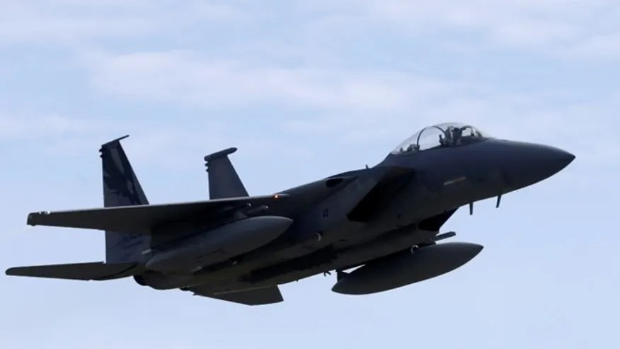 FILE: 2 U.S. Air Fore F-15s broke the speed of sound to intercept an unresponsive plane flying near West Palm Beach, Fla., during a President Trump stay.