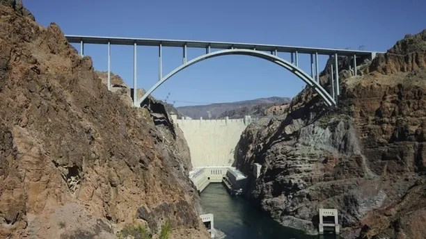 October 2, 2012: Hoover Dam and Mike O'Kalagan-Pat Tillman Memorial Bridge of the Airstrip in Boulder, NV.