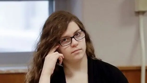 Anissa Weier listens during the jury selection in the trial to determine her competency at Waukesha County Courthouse Monday, Sept 11, 2017, in Waukesha, Wis. Prosecutors allege that Weier and her friend, Morgan Geyser, lured classmate Payton Leutner into a Waukesha park in May 2014 and stabbed her 19 times. The girls have said it was an effort to  to please a fictional horror character known as Slender Man.  (AP Photo/Morry Gash, Pool)