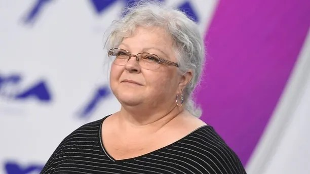 Susan Bro, mother of Heather Heyer, arrives at the MTV Video Music Awards at The Forum on Sunday, Aug. 27, 2017, in Inglewood, Calif. Heyer was killed in Charlottesville, Va., after a car crashed into demonstrators protesting a white supremacy rally. (Photo by Jordan Strauss/Invision/AP)