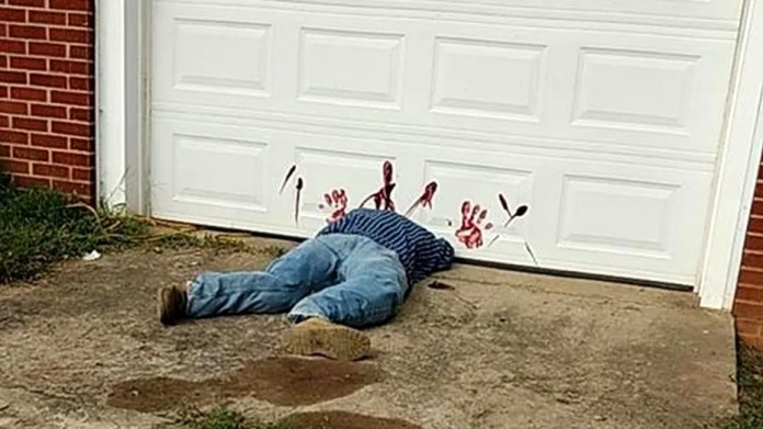 """Greene County Sheriff's Department said the """"body"""" is really a Halloween decoration."""