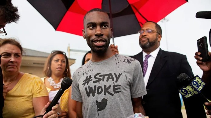 "DeRay Mckesson, a leader of the Black Lives Matter movement, was accused of ""inciting violence"" that led to a deadly police ambush in Baton Rouge, La. on July 17, 2016."