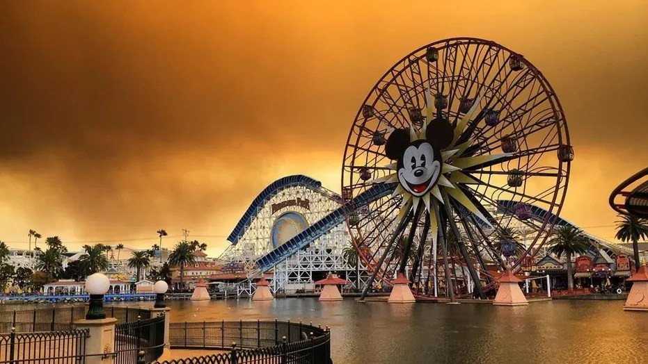 Image result for disneyland california fires