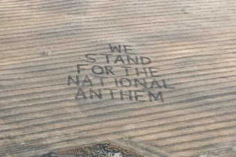 Farmer plows message for the NFL: 'We stand for the national anthem'