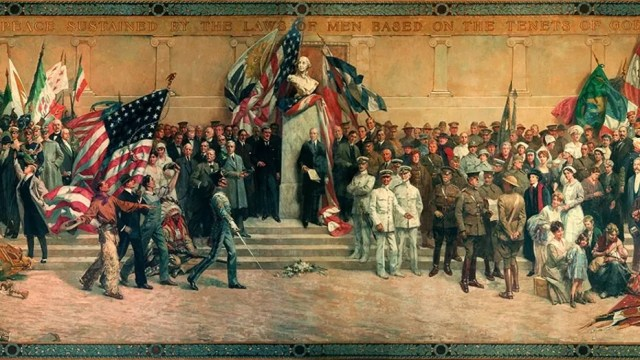 Daniel MacMorris' revised version of the Panthéon de la Guerre that is currently on display at the National World War I Museum and Memorial in Kansas City.