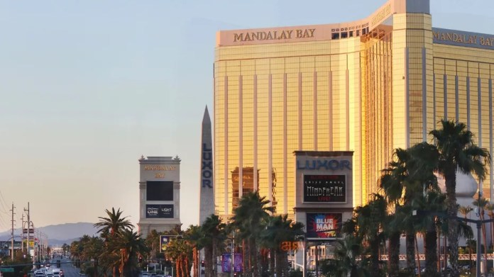 The Mandalay Bay hotel and casino is seen in Las Vegas, Oct. 2, 2017.