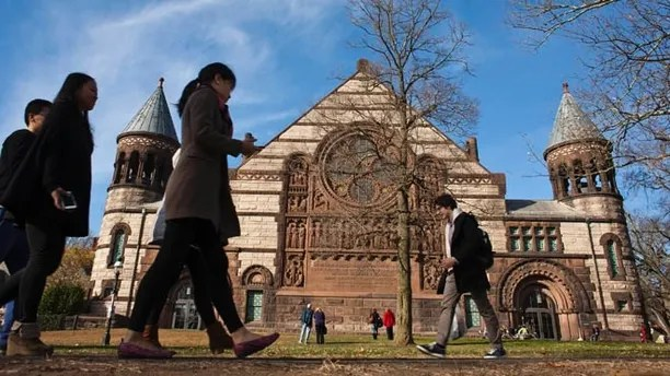 Nov. 16, 2013: People walk around the Princeton University campus in New Jersey.
