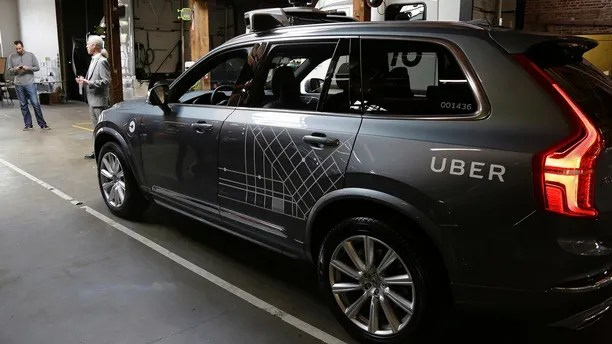 A fleet of Uber's Ford Fusion self driving cars are shown during a demonstration of self-driving automotive technology in Pittsburgh, Pennsylvania, U.S. September 13, 2016. REUTERS/Aaron Josefczyk - S1BEUBFRTZAA