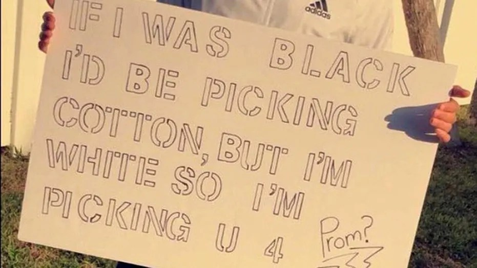 "A Florida school district is investigating a student's ""promposal"" that many found racist and offensive."