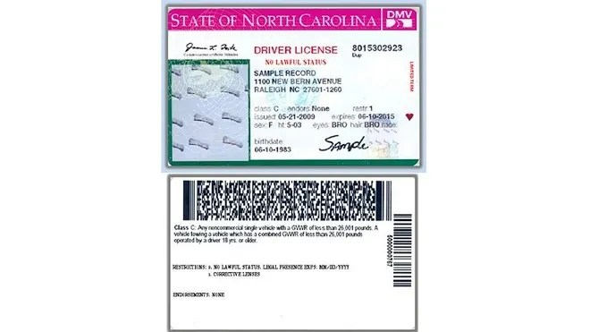 2013 Carolina License Drivers 2013 Drivers License Carolina North North
