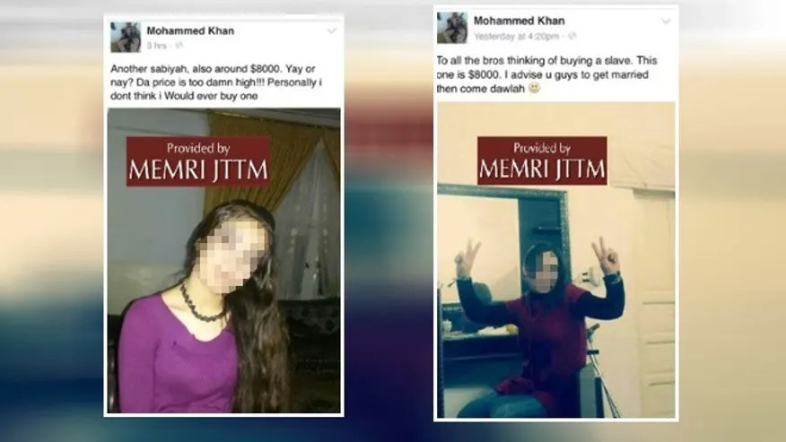 Facebook profile of a German ISIS fighter discovered by MEMRI appears to offer Yazidi sex slaves for $8,000.