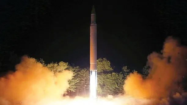 FILE - In this July 28, 2017, file photo distributed by the North Korean government on Saturday, July 29, 2017, shows what was said to be the launch of a Hwasong-14 intercontinental ballistic missile at an undisclosed location in North Korea. North Korea after decades of effort has a missile potentially capable of reaching the continental United States, but analysts say Pyongyang has yet to show the ICBM can inflict serious damage once it gets there. (Korean Central News Agency/Korea News Service via AP, File)