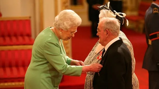 Parsons Green incident. File photo dated 12/2/2010 of Penelope Jones and Ronald Jones as they receive their MBEs from Queen Elizabeth II at Buckingham Palace. Police are searching a house registered to the foster carers in Sunbury-on-Thames, Surrey, after an 18-year-old - understood to be the suspected bomber in the Parsons Green bombing - was arrested in Dover earlier on Saturday. Issue date: Saturday September 16, 2017. See PA story TRANSPORT Explosion. Photo credit should read: Lewis Whyld/PA Wire URN:32849044