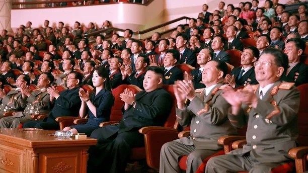 North Korean leader Kim Jong Un claps during a celebration for nuclear scientists and engineers who contributed to a hydrogen bomb test, in this undated photo released by North Korea's Korean Central News Agency (KCNA) in Pyongyang on September 10, 2017. KCNA via REUTERS   ATTENTION EDITORS - THIS PICTURE WAS PROVIDED BY A THIRD PARTY. REUTERS IS UNABLE TO INDEPENDENTLY VERIFY THE AUTHENTICITY, CONTENT, LOCATION OR DATE OF THIS IMAGE. NO THIRD PARTY SALES. SOUTH KOREA OUT. NO COMMERCIAL OR EDITORIAL SALES IN SOUTH KOREA. THIS PICTURE IS DISTRIBUTED EXACTLY AS RECEIVED BY REUTERS, AS A SERVICE TO CLIENTS. - RC15DB4A91F0
