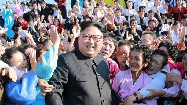 North Korean leader Kim Jong Un meets supporters in this undated photo released by North Korea's Korean Central News Agency (KCNA) in Pyongyang September 12, 2017. REUTERS/KCNA   ATTENTION EDITORS - THIS PICTURE WAS PROVIDED BY A THIRD PARTY. REUTERS IS UNABLE TO INDEPENDENTLY VERIFY THE AUTHENTICITY, CONTENT, LOCATION OR DATE OF THIS IMAGE. FOR EDITORIAL USE ONLY. NOT FOR SALE FOR MARKETING OR ADVERTISING CAMPAIGNS. NO THIRD PARTY SALES. NOT FOR USE BY REUTERS THIRD PARTY DISTRIBUTORS. SOUTH KOREA OUT. NO COMMERCIAL OR EDITORIAL SALES IN SOUTH KOREA. THIS PICTURE IS DISTRIBUTED EXACTLY AS RECEIVED BY REUTERS, AS A SERVICE TO CLIENTS. - RC1DA0FE3F10