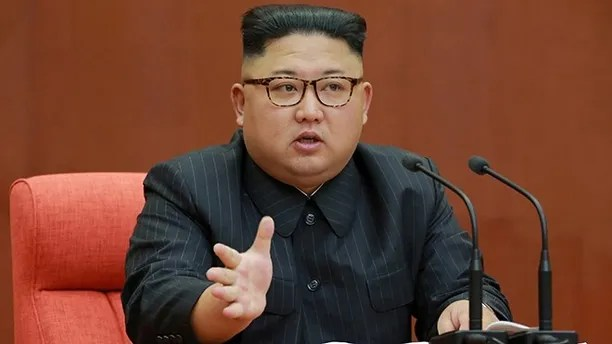 North Korean leader Kim Jong Un speaks during the Second Plenum of the 7th Central Committee of the Workers' Party of Korea (WPK) at the Kumsusan Palace of the Sun, in this undated photo released by North Korea's Korean Central News Agency (KCNA) in Pyongyang October 8, 2017. KCNA/via REUTERS. ATTENTION EDITORS - THIS IMAGE WAS PROVIDED BY A THIRD PARTY. REUTERS IS UNABLE TO INDEPENDENTLY VERIFY THIS IMAGE. NO THIRD PARTY SALES. SOUTH KOREA OUT. - RC196B059A00