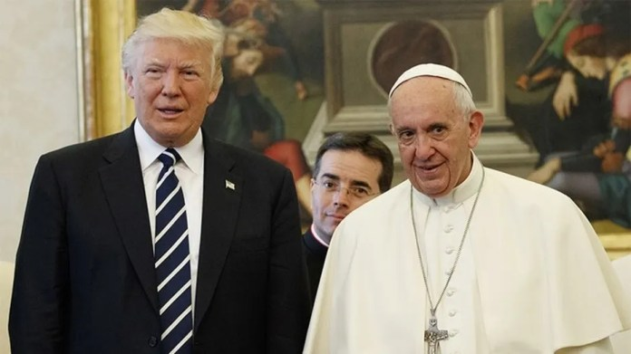 U.S. President Donald Trump and Pope Francis meet at the Vatican, May 24, 2017.